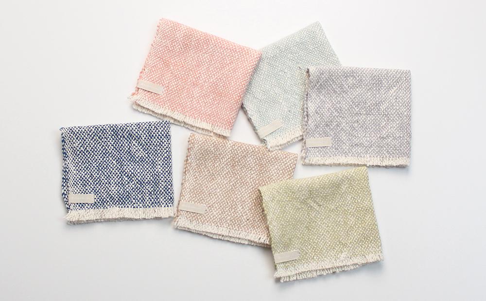 手紡ぎ 手織り ハンカチ