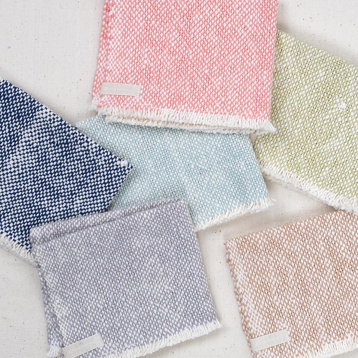 無農薬栽培綿・手つむぎ・手織りのハンカチ