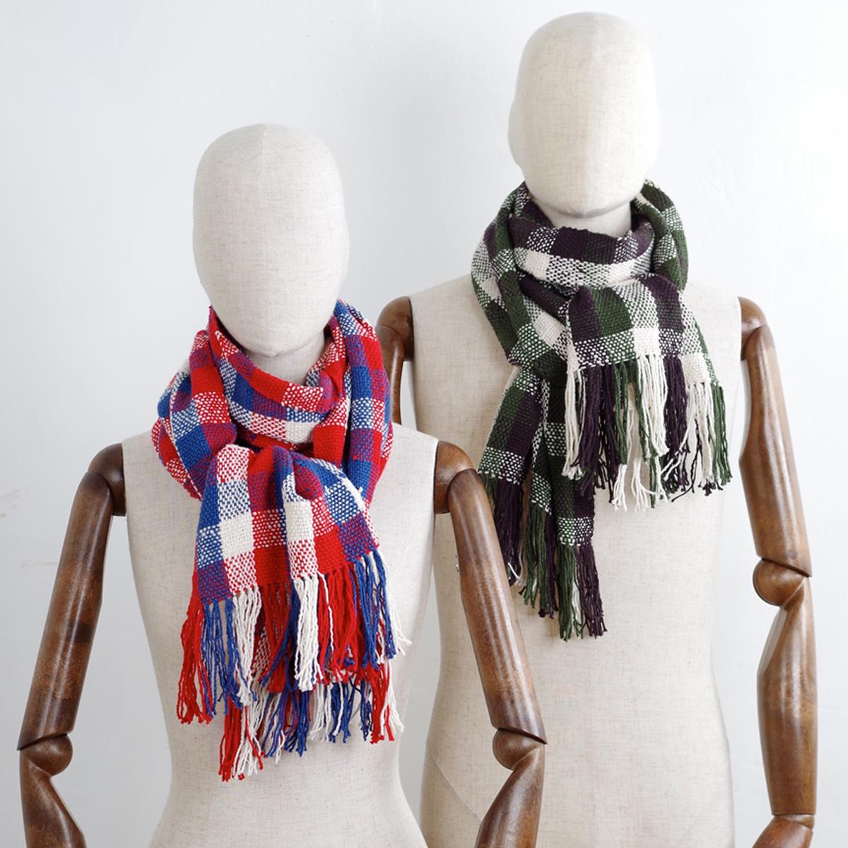 無農薬栽培綿・手つむぎ・手織りのストール