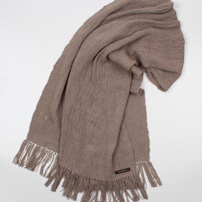 手紡ぎ 手織り ストール|Standard(鳩羽鼠+鳩羽鼠)